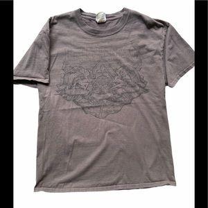Harley-Davidson Men's Tee shirt Distressed Brown